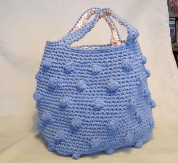 Manualidades bolso azul peque o en crochet - Bolso ganchillo paso a paso ...