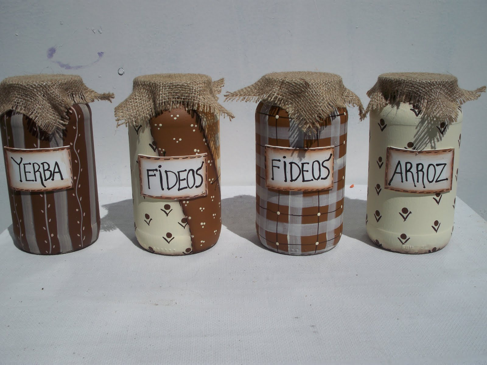 Frascos decorados on pinterest tejidos jars and fimo - Como decorar la cocina ...