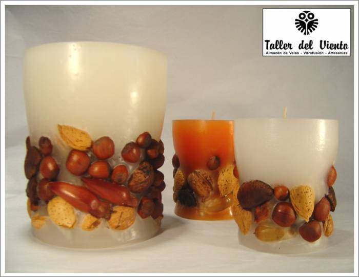 Velas con frutos secos
