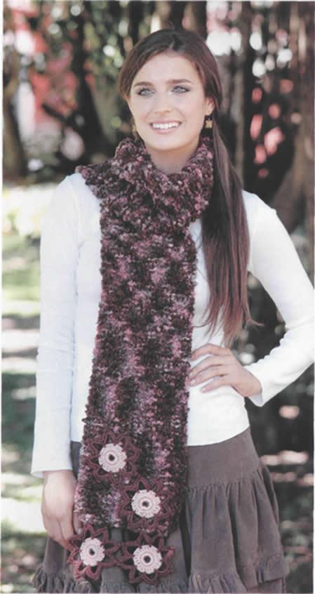 Manualidades » bufanda a crochet