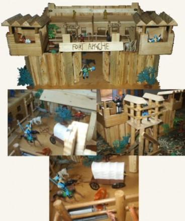 Manualidades segunda parte construir un fuerte del oeste - Pegamento fuerte para madera ...