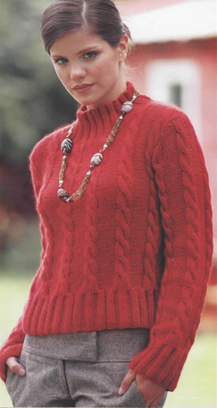 pulover rojo